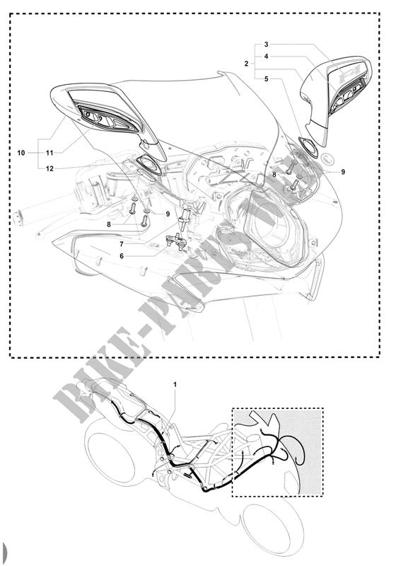 Faisceau Electrique Retroviseurs Pour Mv Agusta F4 1000 Rr